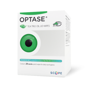 Optase Tee Tree oil lid wipes