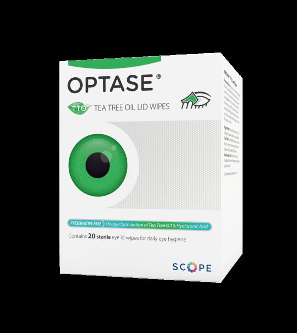 Optase Tee Tree oil lid wipes