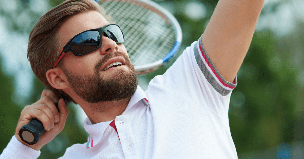 Sunglasses for tennis players
